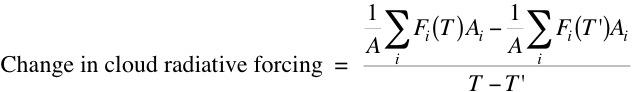 changeincloudforcing