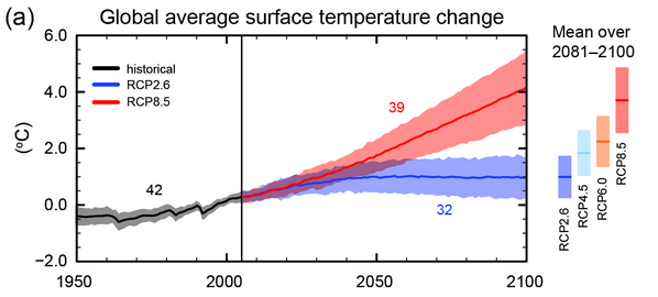 Global temperature projections